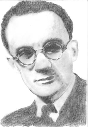 Nikos Skalkottas - Nikos Skalkottas. Sketch by Véronique Fournier-Pouyet