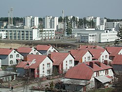 One of Slavutych's residential areas