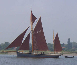 Smack (ship) - A smack near Brightlingsea