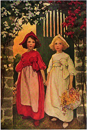 Snow-White and Rose-Red - Snow-White and Rose-Red by Jessie Willcox Smith, 1911