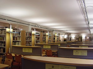 Human and Social Sciences Library Paris Descartes-CNRS - Reading-room of the Library.