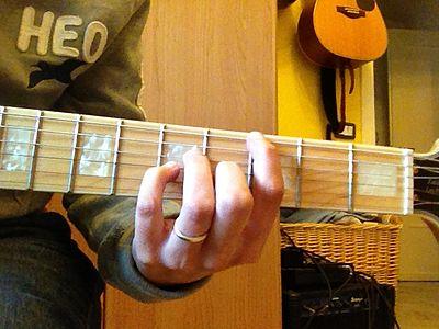 Sol7+ accordo chitarra versione jazz Gmaj7 chord jazz guitar.JPG