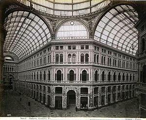 Galleria Umberto I - Image: Sommer, Giorgio (1834 1914) n. 1135 Napoli Galleria Umberto I