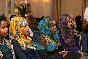 Somalis in the United Kingdom - Somali women at a Somali language event in London.