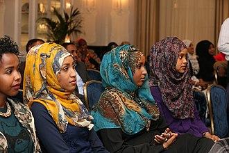 Somalis in the United Kingdom - Somali women at a Somali language event in London.