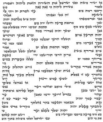 Song of the Sea - Song of the Sea from a Sefer Torah