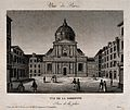 Sorbonne, Paris; from the square. Line engraving. Wellcome V0014342.jpg