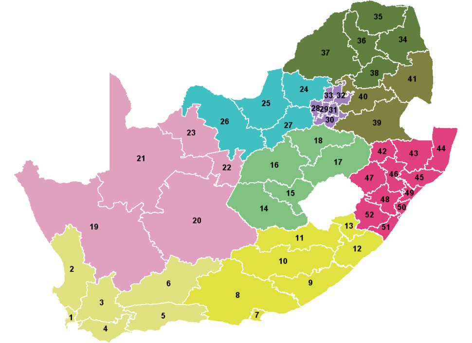 South Africa Districts April 2006