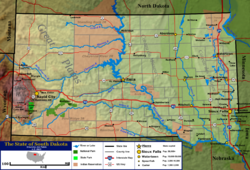 South Dakota Wikipedia - Political map of south dakota