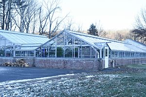Southbury Training School - Southbury Training School Greenhouse, overview of the building