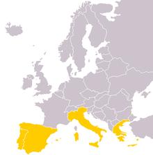 Країни південної європи