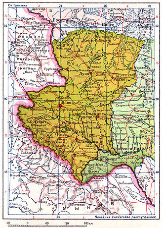 Elections to the People's Assemblies of Western Ukraine and Western Belorussia - Soviet annexation of territory of eastern Poland ceded to Ukrainian SSR (yellow), 1940