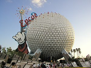 Spaceship Earth in Epcot Center at Walt Disney World is perhaps one of the most famous examples of a large scale geodesic sphere.