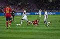 Spain - Chile - 10-09-2013 - Geneva - Javi Garcia, Arturo Vidal and Pedro Rodriguez.jpg
