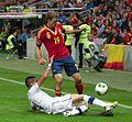 Spain - Chile - 10-09-2013 - Geneva - Mauricio Isla and Ignacio Monreal 1 cropped to show tackle.jpg