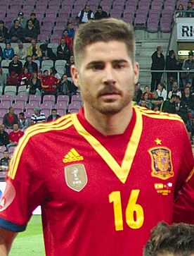 Spain - Chile - 10-09-2013 - Geneva - Spain team - Javi Garcia.jpg