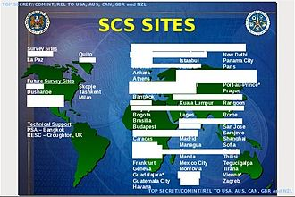 Stateroom (surveillance program) - Locations of the U.S. Special Collection Service (SCS) eavesdropping sites in 2004