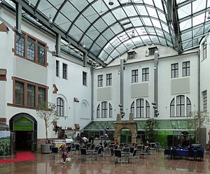 "Historical Museum of the Palatinate - The ""Forum"", (covered courtyard inside the museum)"