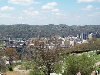 Charleston, West Virginia - A view of Charleston from Spring Hill Cemetery