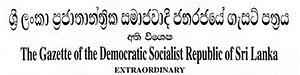 The Sri Lanka Gazette - Image: Sri Lanka Gazette header