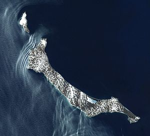 St. Matthew Island - Satellite view of St. Matthew Island
