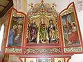 St Bartholomäus, Zell bei Oberstaufen, rechter Seitenaltar, Altarschrein und Flügel.jpg