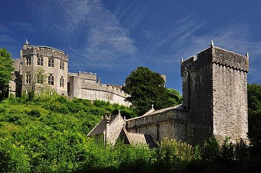 St Donat's Castle from St Donat's Church