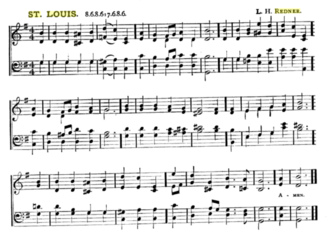 """O Little Town of Bethlehem - """"St Louis"""" by Lewis Redner (from an 1896 hymnal)"""