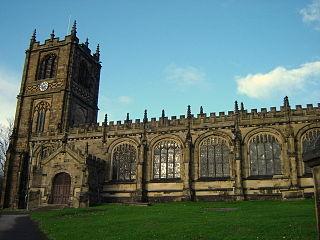 St Marys Church, Mold Church in Flintshire, Wales