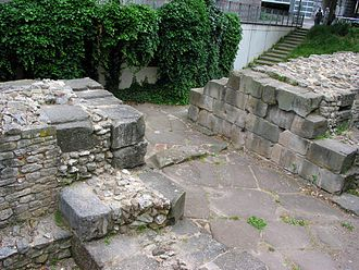 Mainz - Remains of a Roman town gate from the late 4th century