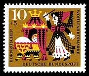 German stamp: The wicked fairy curses the princess
