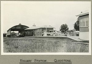 Gladstone railway station, Queensland - The station in 1924