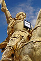 Statue of Jeanne d'Arc in Paris, Place des Pyramides, 10 December 2012.jpg