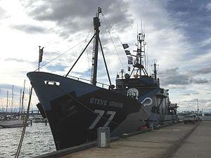 MY Steve Irwin - Sea Shepherd's Steve Irwin at Williamstown, Australia, August 2016