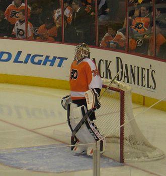 Steve Mason (ice hockey) - Mason pictured with the Philadelphia Flyers