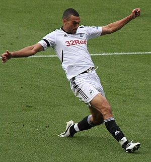 Steven Caulker - Caulker playing for Swansea City in 2011