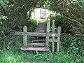 Stiles and footbridge on path east to St Helena Farm - geograph.org.uk - 1314585.jpg