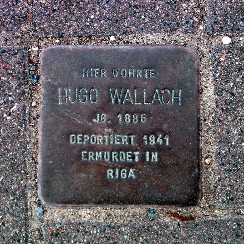 Stolperstein Hugo Wallach