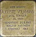 Stolperstein Salzburg, Auguste Volkmann (Müllner Hauptstraße 2).jpg