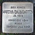 Stolperstein Verden - Martha Baumgarten (1921).jpg