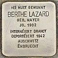 Stolperstein für Berthe Lazard (Differdingen).jpg