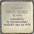 Stolperstein für Vilmos Maros - Maros Vilmos (Budapest).jpg