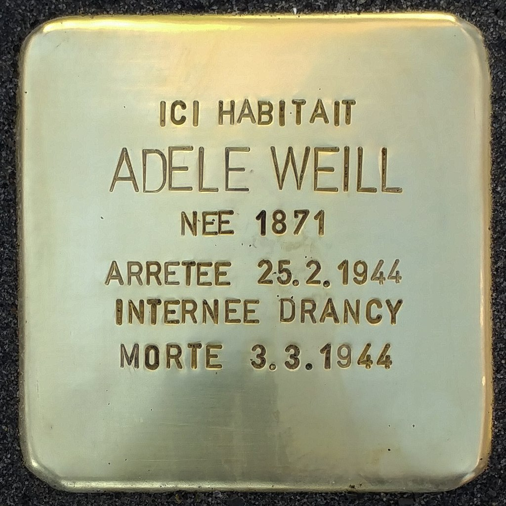 Stolperstein Adèle Weill (Herrlisheim-près-Colmar)