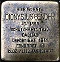 Stumbling stone for Dionysius Bender (Lungengasse 43)