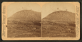Stones and lava thrown upwards - eruption of Mokuaweoweo volcano, Hawaii, July 4-21, 1899, by Underwood & Underwood.png