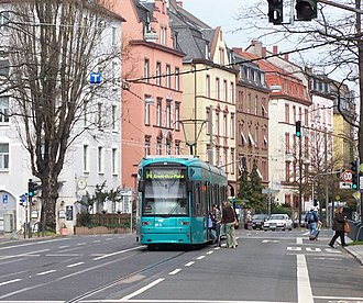 Tram stop - ... to simple stops within a public road (here in Frankfurt am Main).