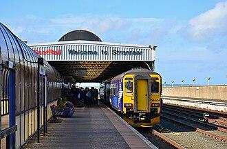 Stranraer railway station - 156 434 at Stranraer