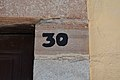 Street number 30 written in black, Guanajuato.jpg