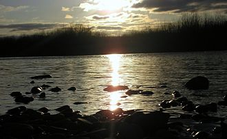 Stryi River - Stryi River at night near the village Hnizdychiv