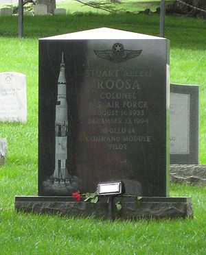 Stuart Roosa - Roosa's Tombstone in Arlington National Cemetery